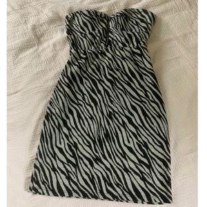 Papaya tiger print dress